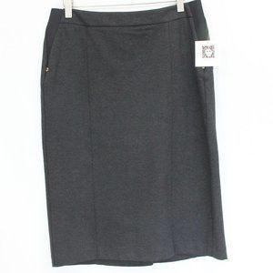Anne Klein Ponte Pencil Skirt Small NEW women